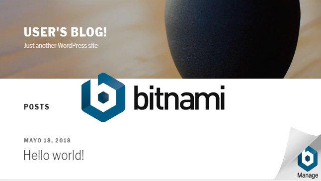 logo bitnami en wordpress