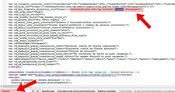 buscar theme en código fuente