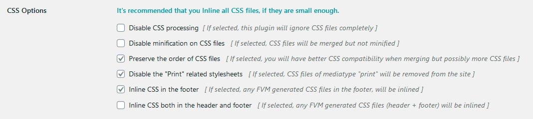 CSS-Options
