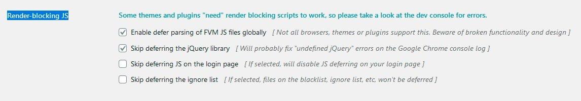 Render-blocking JS