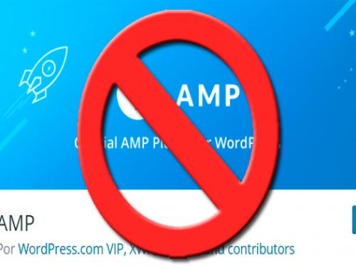 Cómo desactivar AMP correctamente
