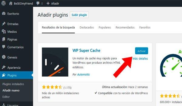 activar plugin