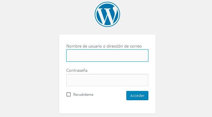 acceso wp admin
