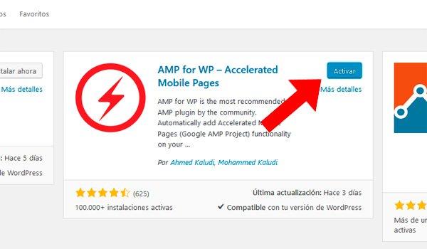 activar plugin amp