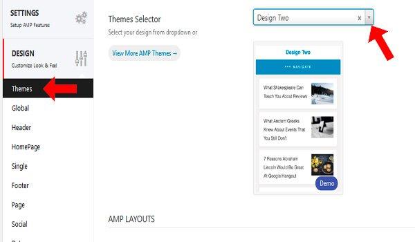 elegir theme amp