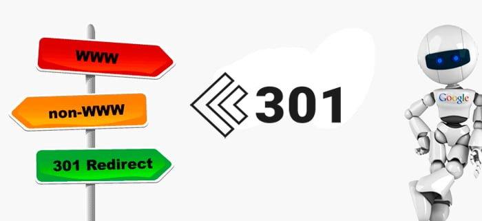 redirección 301