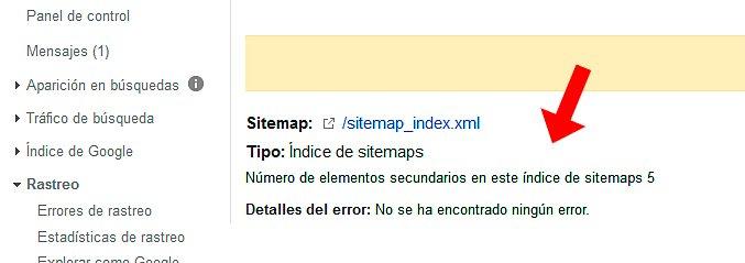 sitemap sin errores