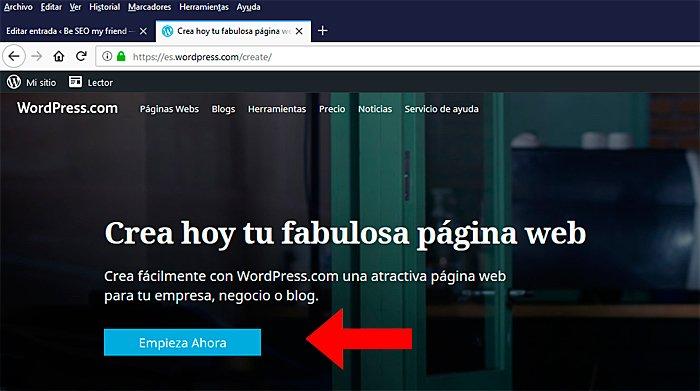 crear blog en wp