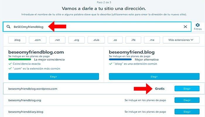 elegir nombre blog