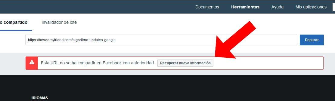 error-en-facebook-debugger