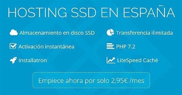 Precio del hosting básico en Sered