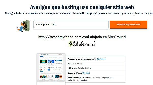 información del host de una web